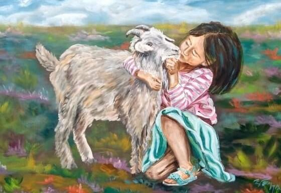 Κοριτσάκι με το ζωάκι του