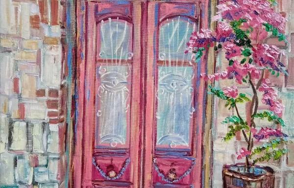 Μποκαμβίλια στην πόρτα