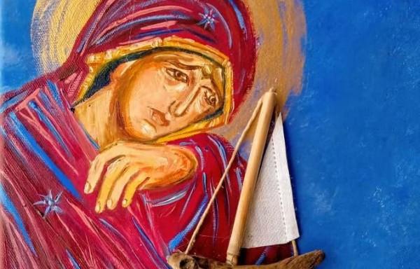 Παναγία κρατάει καράβι
